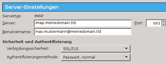 server einstellungen